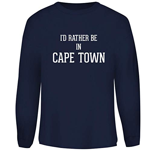 University Of Cape Town South Africa - One Legging it Around I'd Rather Be in Cape Town - Men's Funny Soft Adult Crewneck Sweatshirt, Navy, Medium