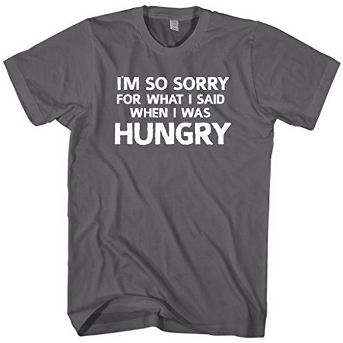 mixtbrand-mens-im-sorry-for-what-i-said-when-i-was-hungry-t-shirt-l-charcoal