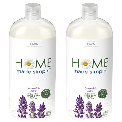 Home Made Simple Foaming Hand Soap Refill, Lavender Scent, 30 Fluid Ounce (Twin Pack)