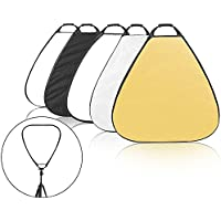 Selens 5-in-1 39.4 Inch Triangle Reflector with Handle for Photography Photo Studio Lighting & Outdoor Lighting