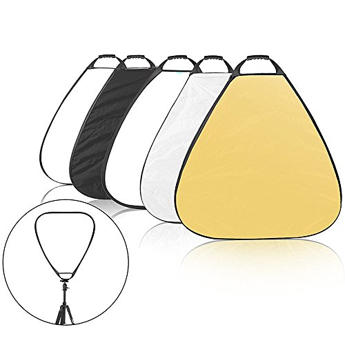 Selens 5-in-1 32 Inch Portable Triangle Reflector with Handle for Photography Photo Studio Lighting & Outdoor Lighting