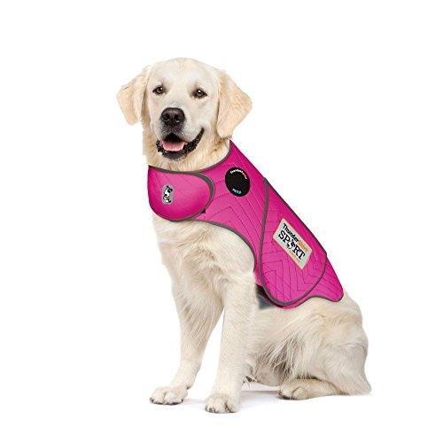 Thundershirt Sport Dog Anxiety Jacket | Vet Recommended Calming Solution Vest for Fireworks, Thunder, Travel, Separation | Fuchsia, X-Large