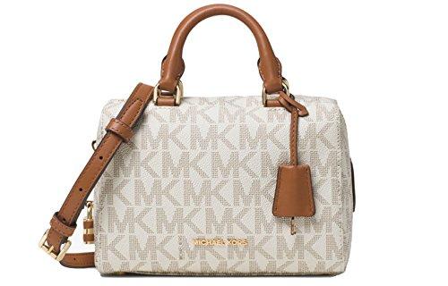 Michael Kors MICHAEL Kirby Mini Satchel Vanilla Print Handbag New