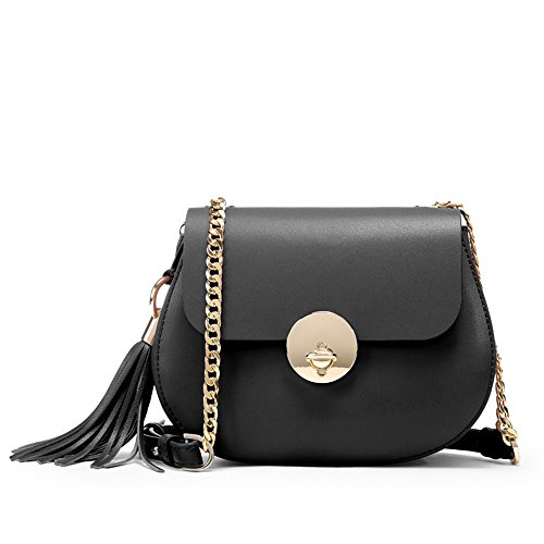 Chain Bag Bag Black Fashion Shoulder Bag Woman Single Slant xzqffI