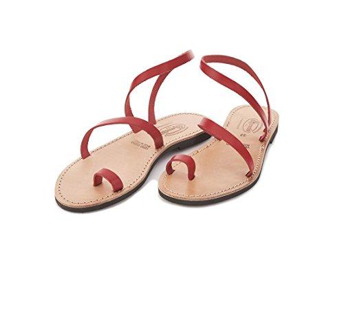 Sandalo Donna 37 Erredibi In Giorgia 1976 Rosso Cuoio Z75wa5