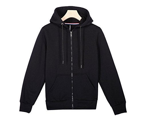 Oudan Sportswear Jogging Chaqueta Swear shirt Casual Mujeres Zip 1 Fitness Sleeve Hooded Long Hombres Unisex Sólido Color qYrqRwS