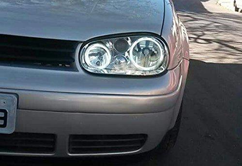Para Volkswagen Golf 4 CCFL lámpara LED Angel Eye Halo Ring headllight luz bombilla: Amazon.es: Coche y moto