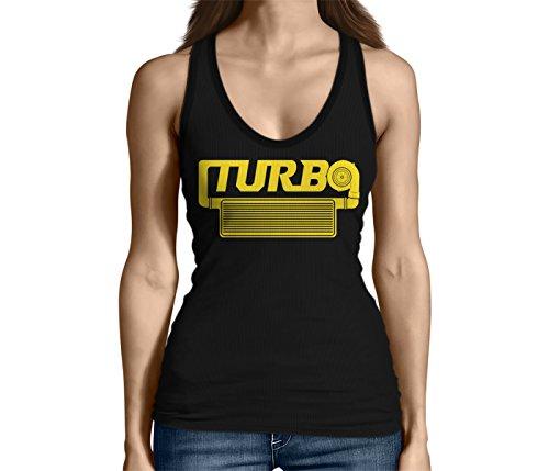 Camaro Nos (Junior's Turbo Engine Tank Top (Black, Large))
