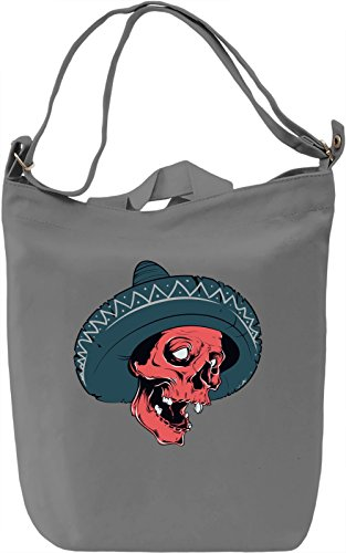 Sombrero skull Borsa Giornaliera Canvas Canvas Day Bag| 100% Premium Cotton Canvas| DTG Printing|
