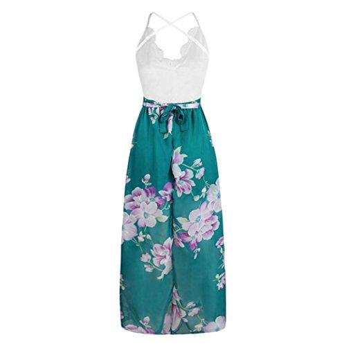 a Hepburn a Abito vintage floreale con alta bottoni vita fiori Fami maniche vintage Verde senza HRPPxS