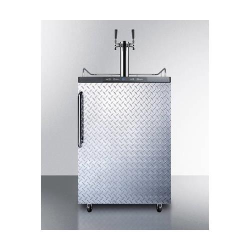 Summit SBC635MDPLTWIN Wine Dispenser, Silver With Diamond Plate