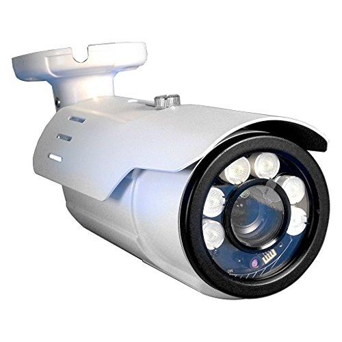 Cameras Surveillance Analog (Long Range Motorized VF License Plate 2 Megapixel 2mp 1080p AHD TVI, CVI, Analog Black Bullet Camera w/ 5-50MM Varifocal 10X Optical Lens 16x Digi and 260ft of Infrared and Adjustable Shutter Speed IR)