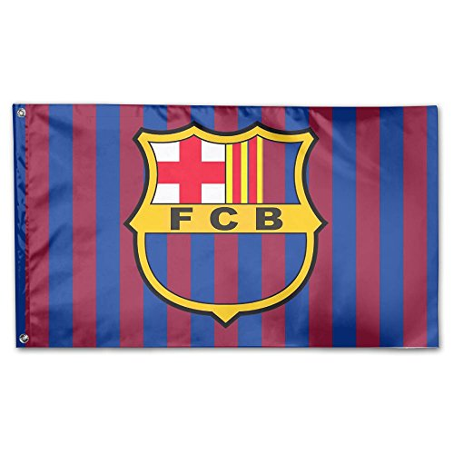 GNJY Fc Barcelona Flag Fly Breeze -Polyester- Flags With Brass Grommets 3 X 5 FT ()