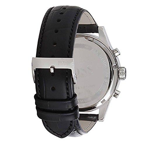 Hugo Boss Jet Black Dial Leather Strap Men s Watch 1513282
