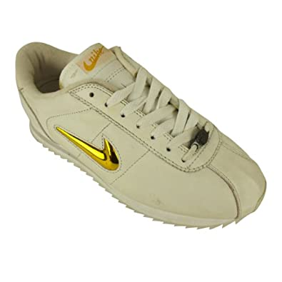 online store efba7 a0da9 Nike Ladies Cortez Ripple White Gold Leather Trainers Womens Trainer Size  UK 6.5  Amazon.co.uk  Shoes   Bags