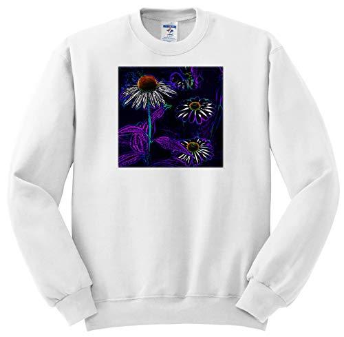 3dRose Stamp City - Flowers - Photograph of Playful coneflowers Digitally Enhanced in Photoshop. - Sweatshirts - Adult Sweatshirt 4XL (ss_295247_7)