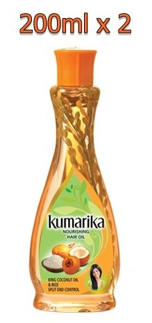 Kumarika King Coconut & Rice Herbal Hair Oil split end control natural Oil (200ml x 2)