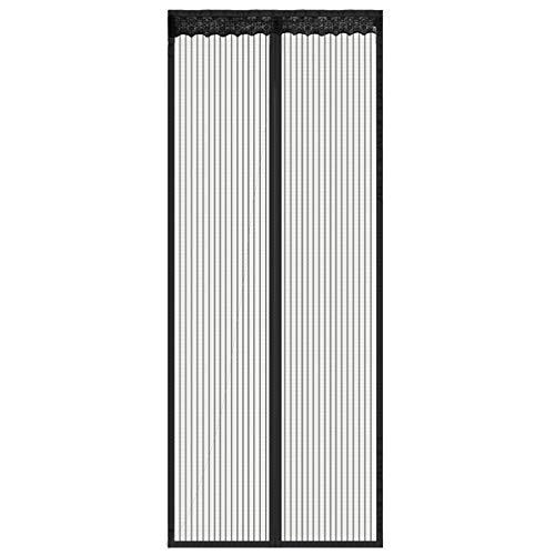 Magnetic Screen Door Durable Polyester Fibre Mesh Curtain Full Frame Velcro Mesh Fit Door Up To 38x82(39x82)
