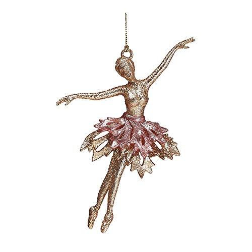 Burton Burton 9732929 Gold Ballerina Pink Tutu Ornament,