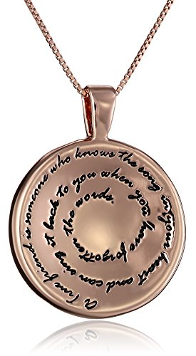 "Sterling Silver ""A True Friend"" Circle Pendant Necklace, 18"""