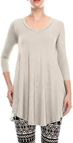ALL FOR YOU Women's Tunic Top With Side Pockets