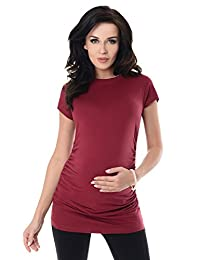 Purpless Maternity Plain Cotton Top Pregnancy T-Shirt Tee for Pregnant Women 5025