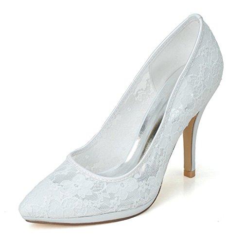 L@YC Damen Hochzeitsschuhe Heels Heels Hochzeit / Party & abend / Pink / Schwarz / Weiß Weiß