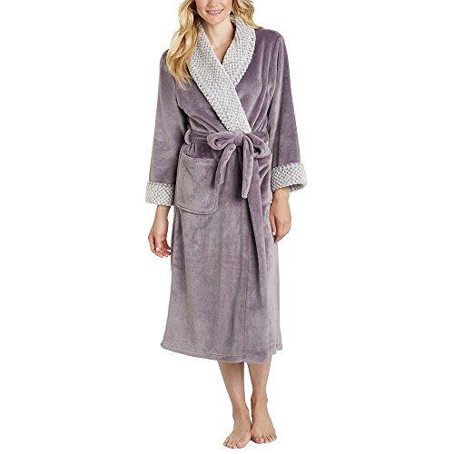 Carole Hochman Ladies' Plush Wrap Robe (Plum, (Carole Hochman Robe)