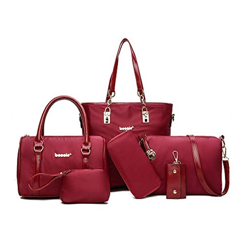 Messenger Spalla Borsa Mhxzkhl Donna Bag Sei Moda Di Mamma Pezzi red In Portafoglio Red Nylon PBPwSnxz