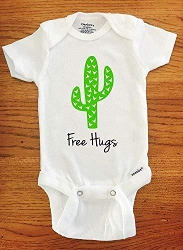 GongYe Bodysuit Cute Hug Cactus Romper as picture6 Months