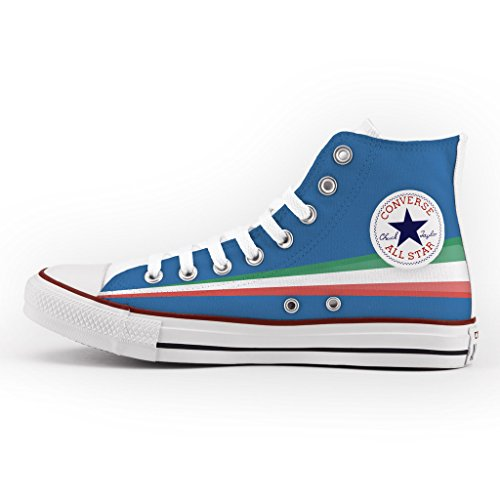 Converse Personalizzate All Star Alta - scarpe artigianali - Blue Italy Multicolor Venta Barata 2018 VW2QC