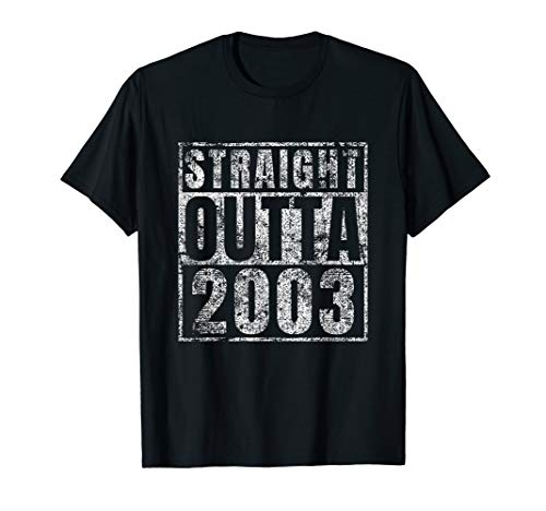 (Straight Outta 2003 Sweet 16 Birthday Gift Idea Tshirt)