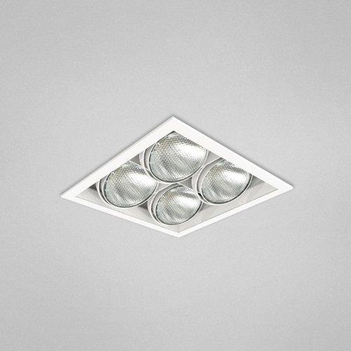 Eurofase TE164B-0N 4-Light PAR20 Recessed Mutiple Square Trim, Platinum Eurofase Platinum Trim