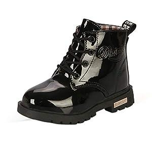 Maxu Fashion Girls Boys PU Waterproof Child Ankle Boots
