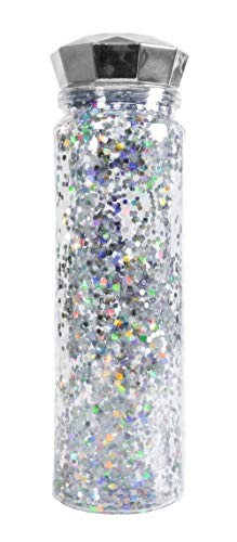 (Bewaltz Confetti Plastic Water Bottle, Diamond Water Bottler, Double wall 14 oz, Travel Mug, Drink Cup, Shake Tumbler, Insulated Tumbler, BPA Free, Party Gifts, Birthday Gifts,)