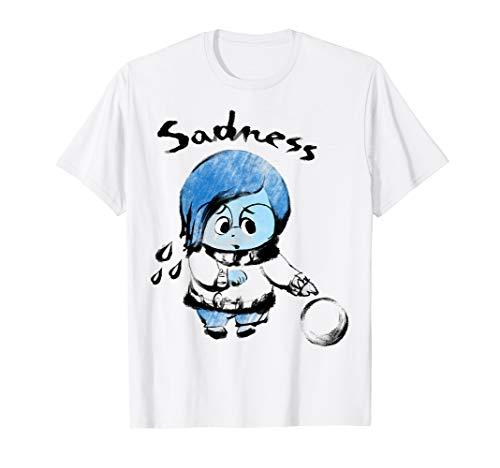 - Disney Pixar Inside Out Sadness Watercolor Graphic T-Shirt