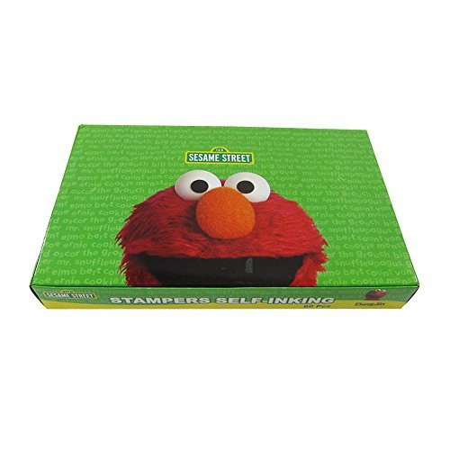 Officially Licensed 60 Piece Self Inking Stamp Set  Elmo by Mirage
