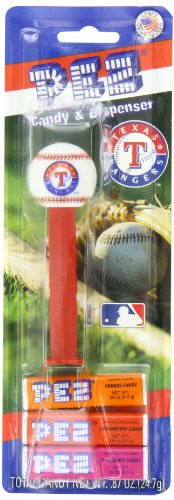 (PEZ MLB Candy Dispensers, Texas Rangers, 0.87 Ounce (Pack of 12))