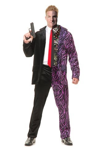 Two Face Costume Mens (Split Personality Adult Costume - Large)