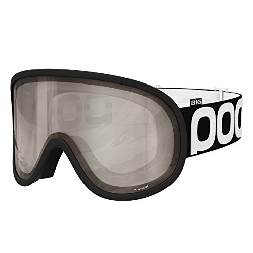 (POC Retina Big NXT Photo Skiing Goggles, One Size, Uranium Black Frame, Bronze/Silver)