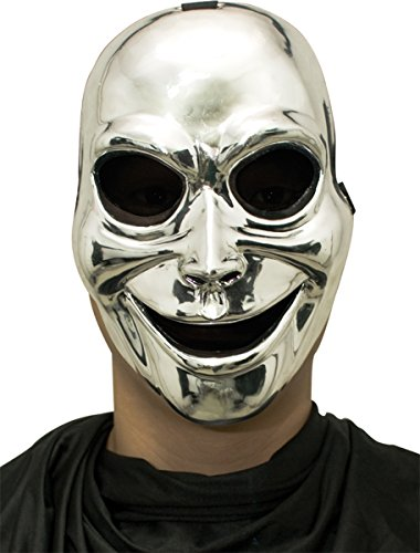 Mask Sinister Ghost (Sinister Ghost (Silver) Mask Adult)