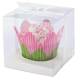 Wilton 415-0435 White-Clear Cupcake Box Kit, 20 Count