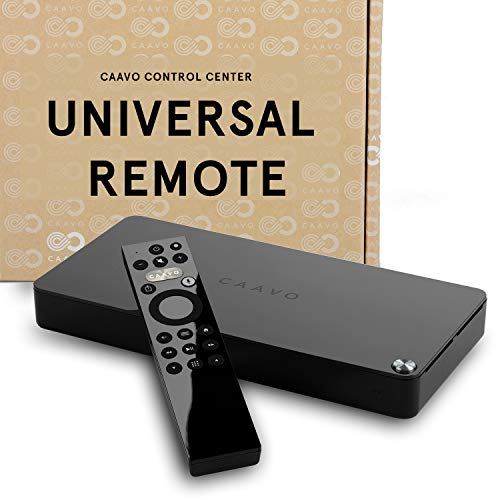 Caavo Control Center Universal TV Remote & Home Theater Hub 4K HDR HDMI Switch Voice Control Compatible w/Apple TV Fire TV Roku Nvidia Shield Sonos Sound Bars AVR Xbox Playstation Google Voice Alexa