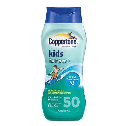 Lotion écran solaire Coppertone enfants Tear-gratuit Spf 50 8 onces liquides