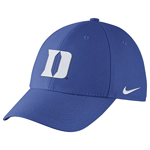 Men's Nike Duke College Wool Swoosh Flex Cap Royal Size Medium/Large