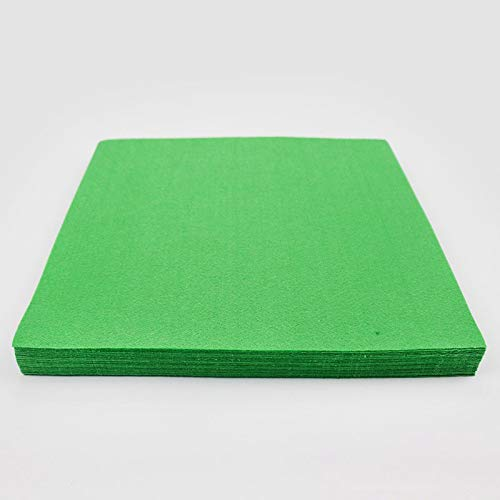 Pukido Solid Classic Green Polyester Felt Nonwoven Pure Color 1mm Fabric DIY Supplies Sewing Felt Crafts for Children Festival Gift - (Color: 40 Sheets)