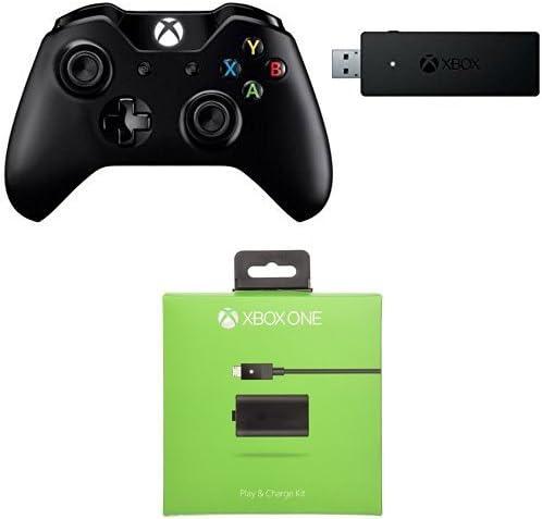 Microsoft - Mando y adaptador inalámbrico de Xbox para Windows + Kit De Carga Y Juega - Reedición (Xbox One): Amazon.es: Videojuegos