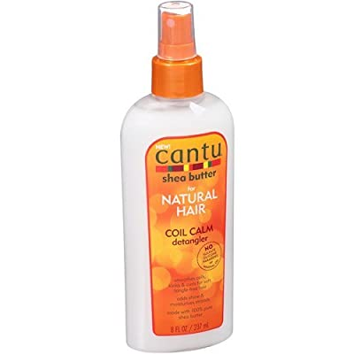 Cantu Shea Butter For Natural Hair Coil Calm Detangler Spraysmooth Coils, Kinks & Curls For Soft Tangle-Free Hair 237ml