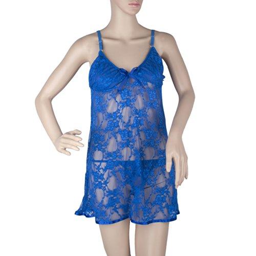 Women's Feminine Unique Design Lace Chemise & Thong Set, Valentine's Gift