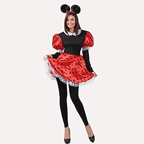 176ea1dba9151 VESTITO COSTUME Maschera di CARNEVALE Adulti TOPOLETTA Minnie - Taglia 44